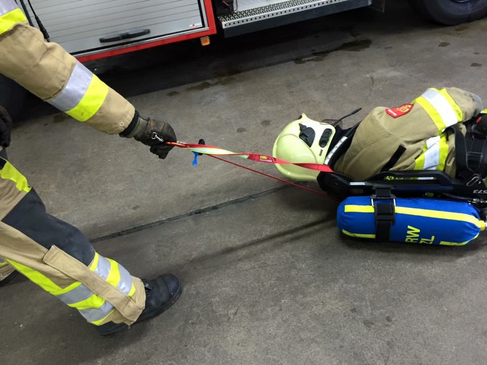 correa de rescate de bomberos